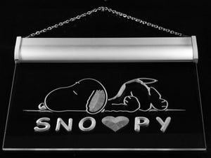 Snoopy Bright Neon Light Wall or Window Decor
