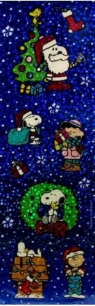 Peanuts Gang Christmas Glitter Stickers