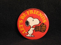 LET'S BE FRIENDS PINBACK BUTTON