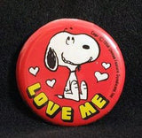 LOVE ME PINBACK BUTTON