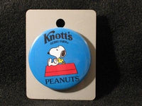 KNOTTS BERRY FARM - SNOOPY AND WOODSTOCK PINBACK BUTTON