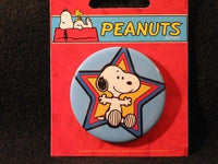 SNOOPY BY STAR PINBACK BUTTON