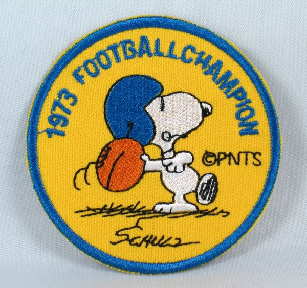 1973 SNOOPY FOOTBALL CHAMPION PATCH