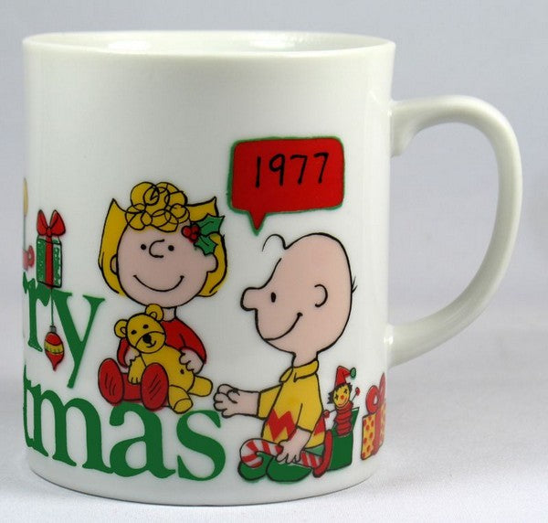 1977 Peanuts Gang Limited-Edition Christmas Mug