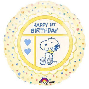 Baby First Birthday Snoopy Balloon