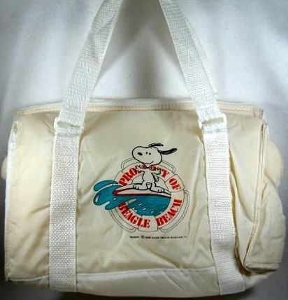 Snoopy Surfing Padded Beach Bag