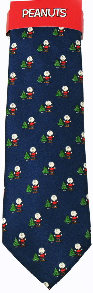 Peanuts Dual-Color Christmas Necktie - Charlie Brown's Tree