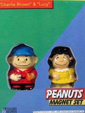 Benjamin & Medwin Charlie Brown and Lucy Magnets Set - REDUCED PRICE!