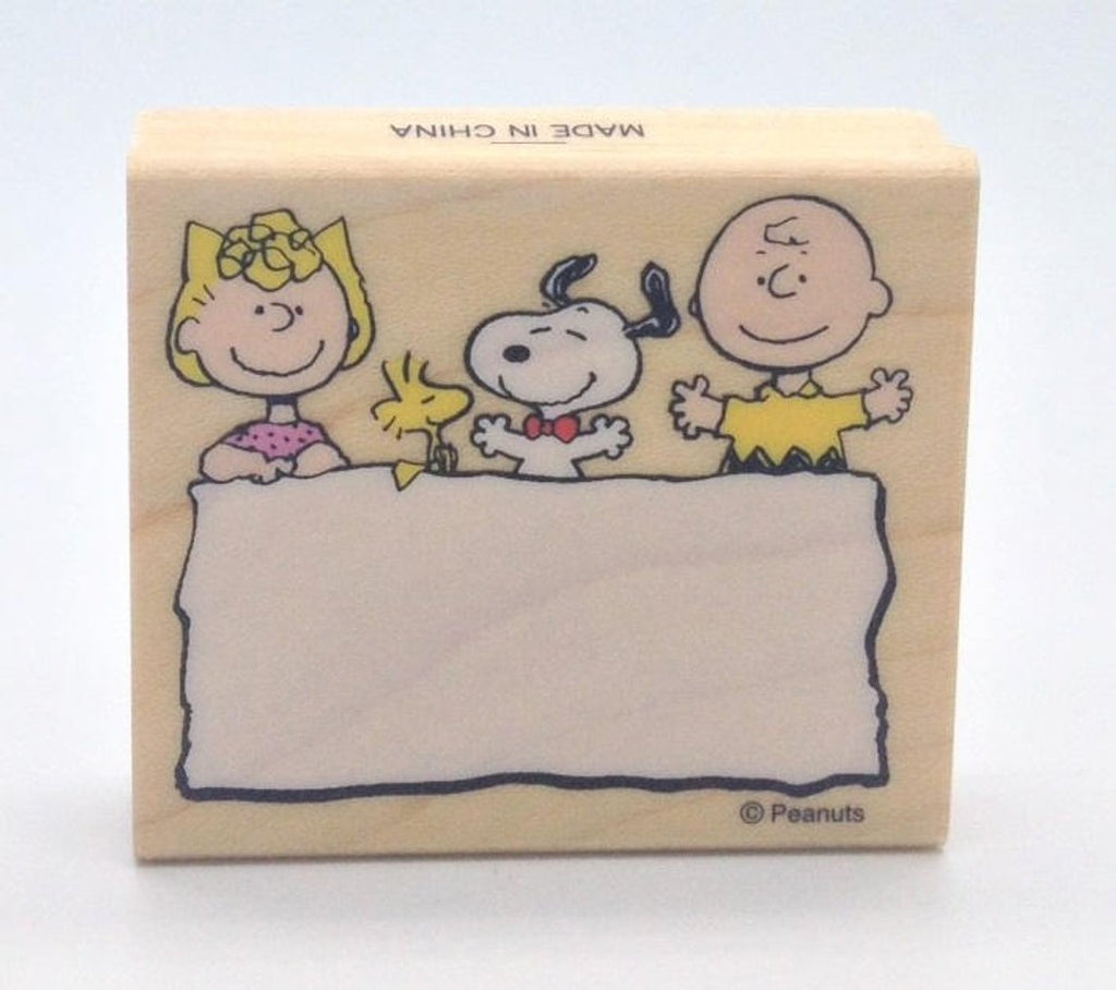 Peanuts Gang Message RUBBER STAMP
