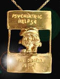 Lucy Psych Booth Sterling Silver Pendant With 24K Gold Plating Finish