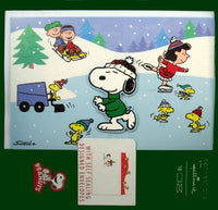 2-D Peanuts Christmas Cards With Designer Envelopes