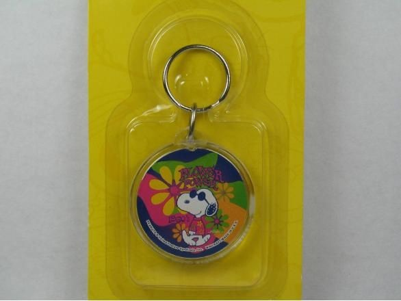 Flower Power acrylic key chain