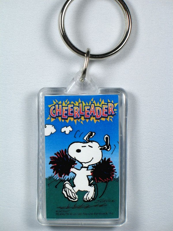 Snoopy Cheerleader acrylic key chain