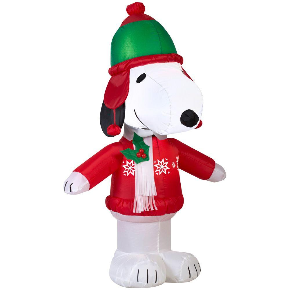 Snoopy Dressed For Winter Lighted Holiday Inflatable