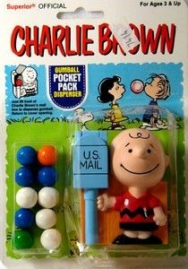 Charlie Brown Gumball Pocket Dispenser