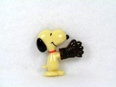 Snoopy Wearing Ball Glove magnet