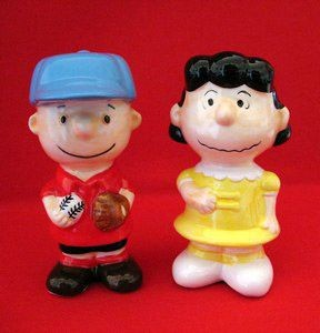 Benjamin & Medwin Charlie Brown & Lucy Salt and Pepper Shakers