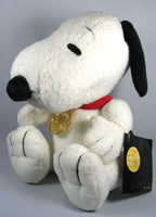 Snoopy 50th Anniversary Jointed Plush Doll With Medallion