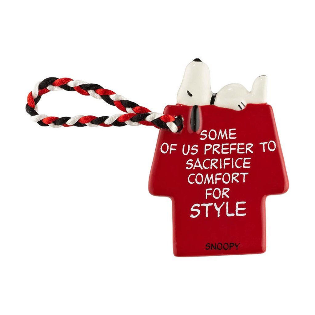 Dept. 56 Snoopy Doghouse Ornament / Gift Tag - Sacrifice Comfort For Style