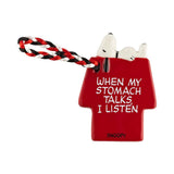 Dept. 56 Snoopy Doghouse Ornament / Gift Tag - When My Stomach Talks I Listen