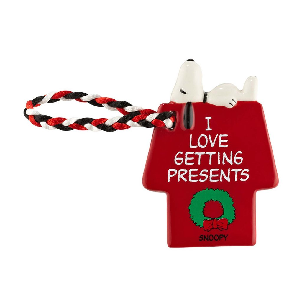 Dept. 56 Snoopy Doghouse Ornament / Gift Tag - Love Presents