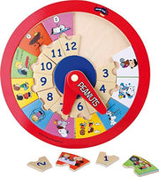 Peanuts Wooden Educational Puzzle Clock