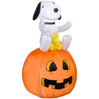Snoopy on Pumpkin Lighted Halloween Inflatable