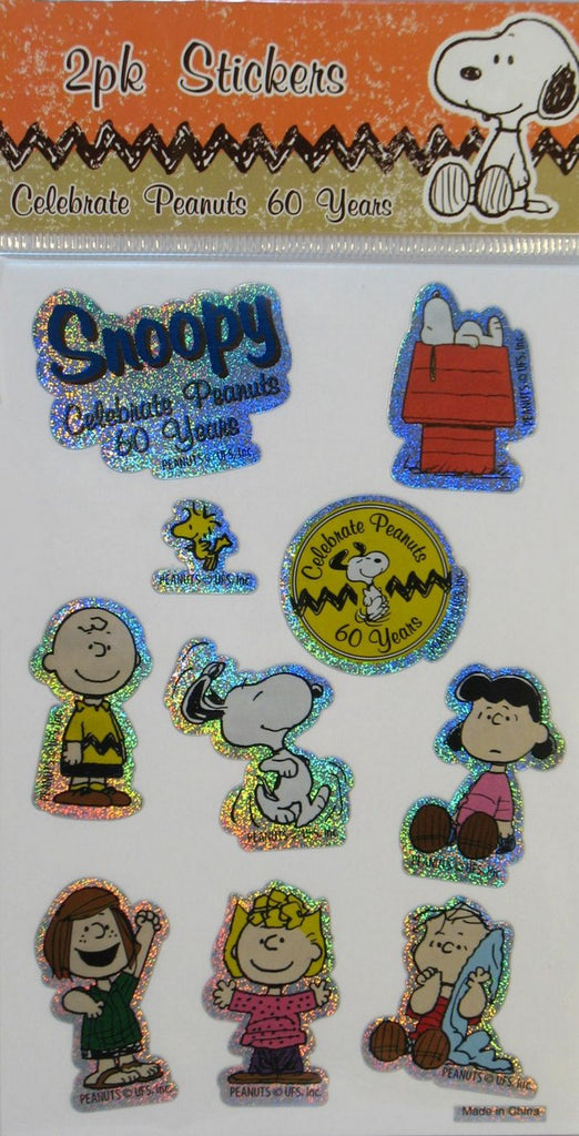 60th Anniversary Holographic Sticker Set