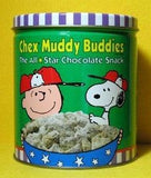 Charlie Brown and Snoopy Chex Mix tin