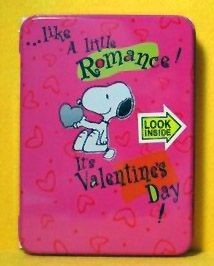 Snoopy Valentine's Day Tin Grins Tin - Personalize It!