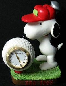 Snoopy Golfer Miniature Quartz Clock - Tee Time