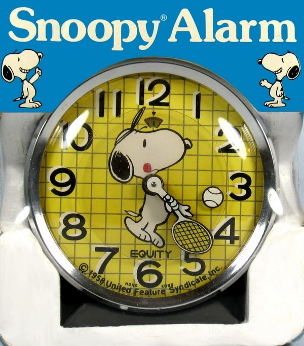 Snoopy Tennis Player Alarm Clock