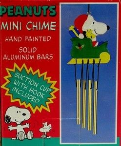Santa Snoopy In Sleigh Wind Chime