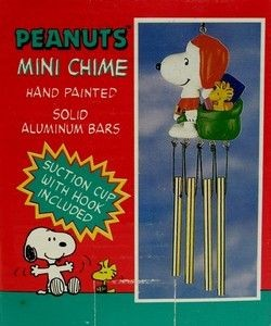 Santa Snoopy With Sack Wind Chime