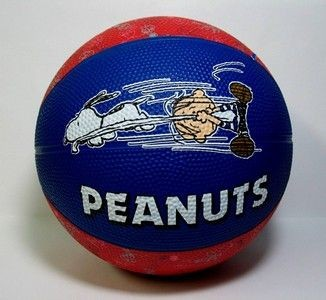 Peanuts Rubber Basketball - Snoopy and Linus