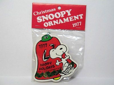 1977 Happy Holidays Wood Bell Ornament