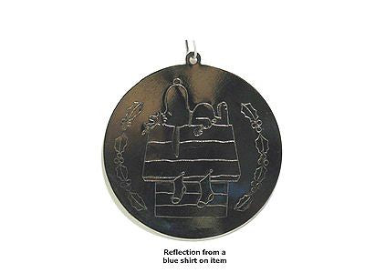 Snoopy's Doghouse Silver Plated Ornament