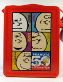 Snoopy and Charlie Brown 50th Anniversary tin lunch box