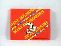 Snoopy Mini Autograph Book