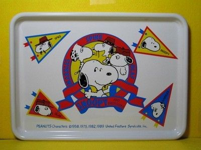 Snoopy and Brothers (Spike, Marbles, & Olaf) Metal Tray