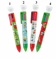 Peanuts Holiday 6-Color Pen With Stamp