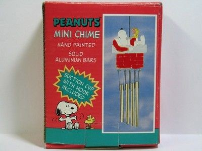 Snoopy Santa On Chimney Wind Chime
