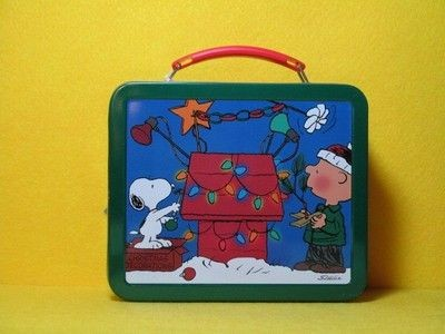 Snoopy's Decorated Doghouse Tin Lunch Box