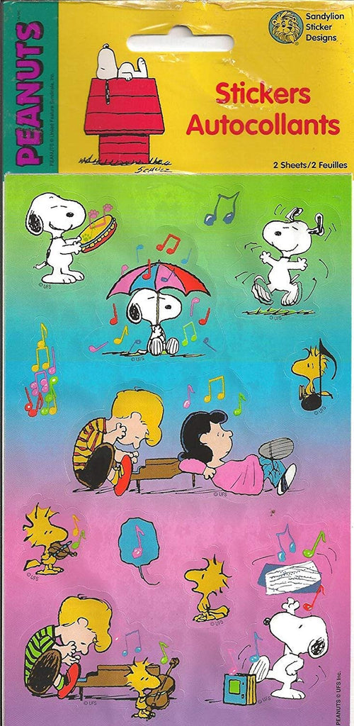 Peanuts Gang Musical Stickers