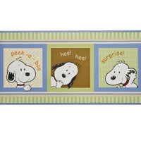 Lambs & Ivy Peek a Boo Snoopy Wallpaper Border - Double Roll Size!