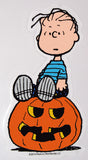 Linus Halloween Jelz Window Cling - On Pumpkin