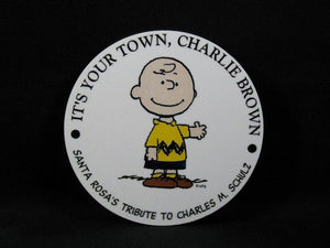 Charlie Brown Around Town Magnet