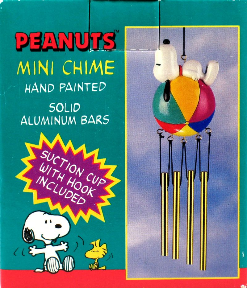 Snoopy On Beach Ball Wind Chime