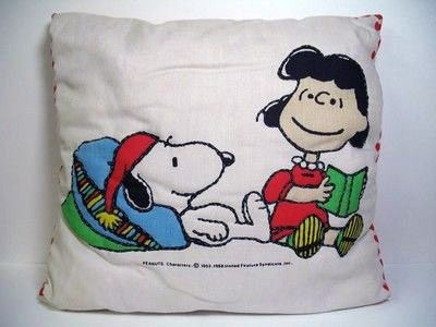 Snoopy and Lucy Pillow