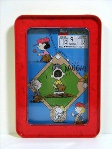 Peanuts Gang Metal Baseball Game
